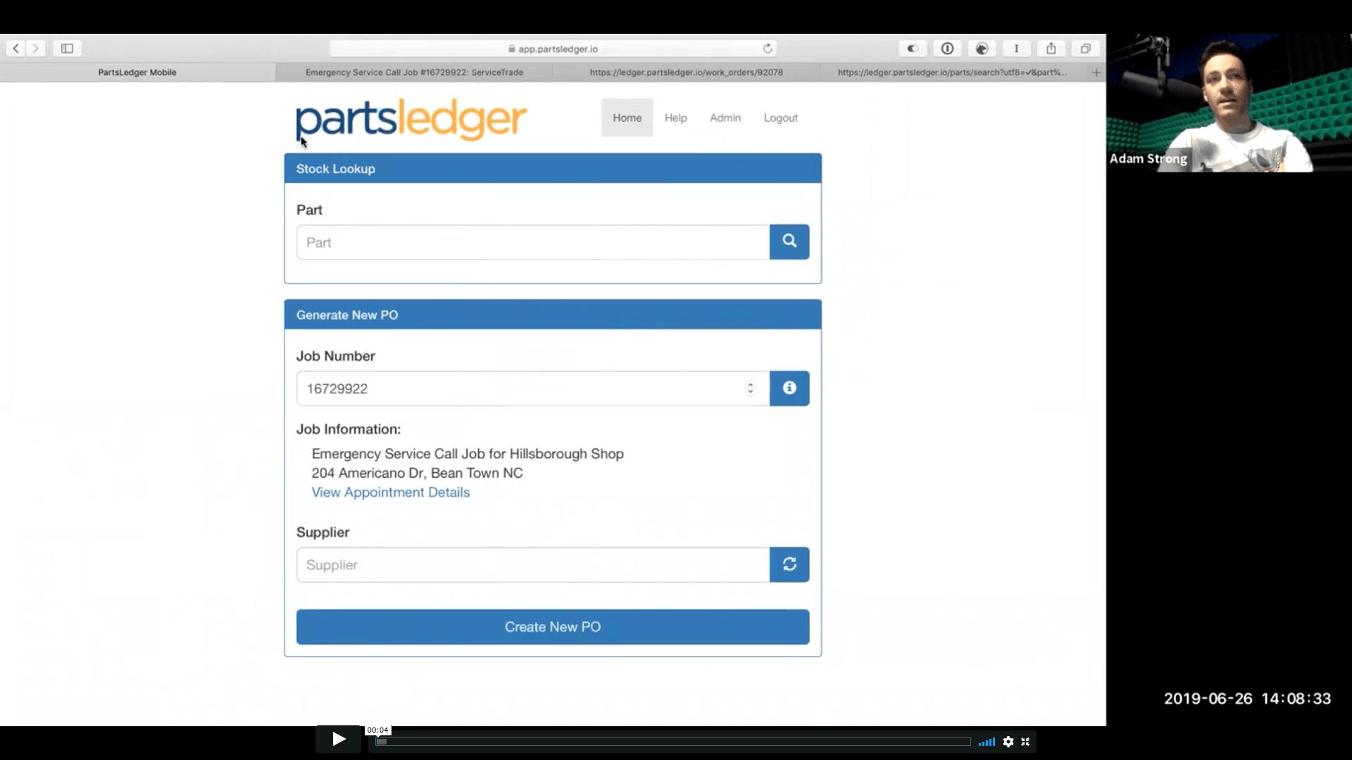 PartsLedger workflow video